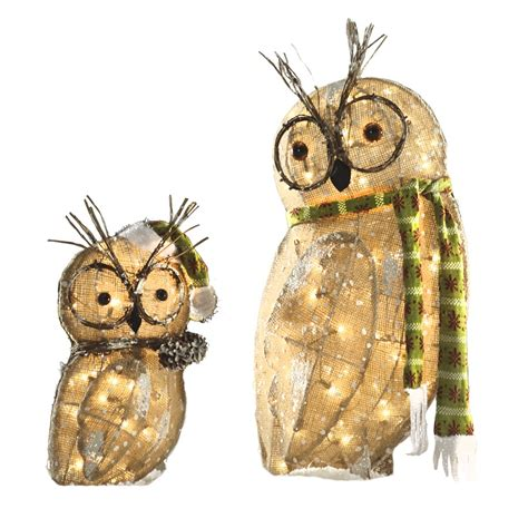 owl christmas lights shop living pre lit owl with constant clear white incandescent lights at lowes