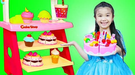 Hana Pretend Play With Cake Shop Bakery Toys Youtube