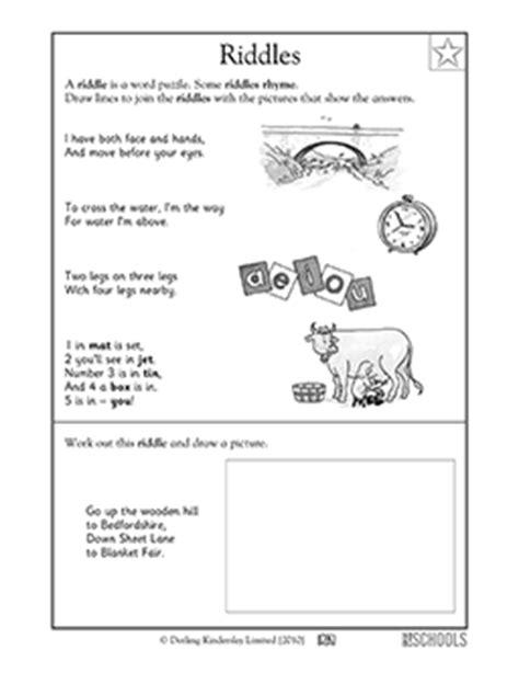 riddles worksheets for 1st grade 1st grade reading worksheets reading practice riddles