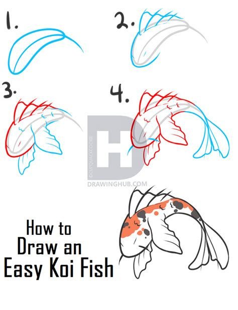 How To Draw A Simple Koi Fish