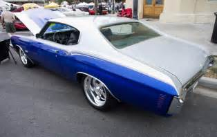 Two Tone Car Paints by 70 Chevelle Two Tone Blue And Silver Billet Wheels 2