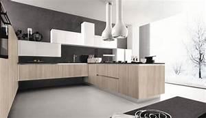 Cuisine bois naturelle elegante et moderne for Deco cuisine avec chaise de cuisine contemporaine