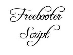 Freebooter Script Fancy Fonts
