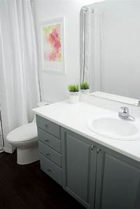 hometalk how to paint bathroom cabinets With kitchen cabinets lowes with canvas mason jar wall art