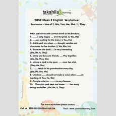 Ncert & Cbse Class 2 English Use Of Pronouns Practice Worksheet