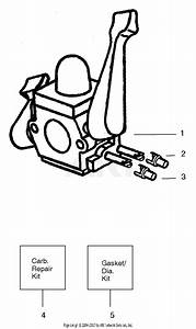 Poulan Wt200 Gas Blower Type 1  Wildthing Wt200 Gas Blower Type 1 Parts Diagram For Carburetor