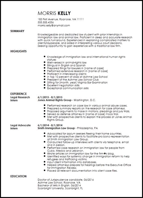 traditional legal internship resume template resume