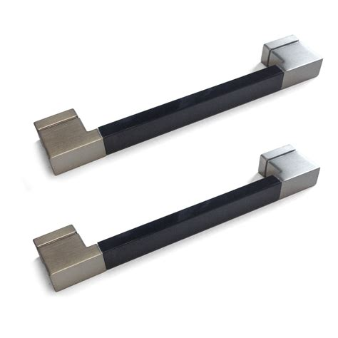 B Q Kitchen Cupboard Handles by It Kitchens Brushed Nickel Effect D Shaped Cabinet Handle