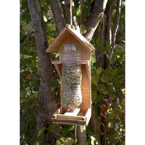 fabriquer sa cuisine en bois mangeoire oiseaux bois naturel 1 5l bois poterie