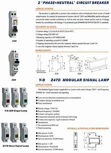 Ac 220v Yellow Mini Circuit Breaker Merlin Gerin Mcb