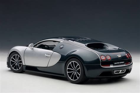 Bugatti Veyron Blue And White by Autoart Bugatti Veyron Sport Blue W Silver