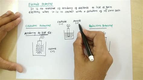 electrode potential oxidation  reduction potential youtube