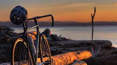 Bicycle Wallpapers Bike Cycling Desktop 4k Sunset