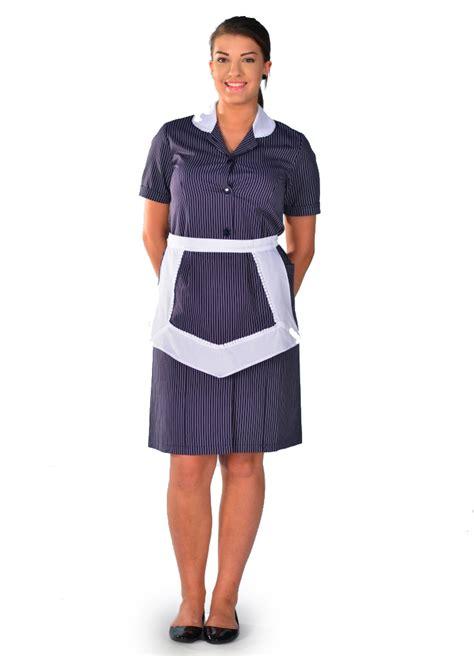 travail femme de chambre blouse femme de chambre à manches courtes rayure carlton