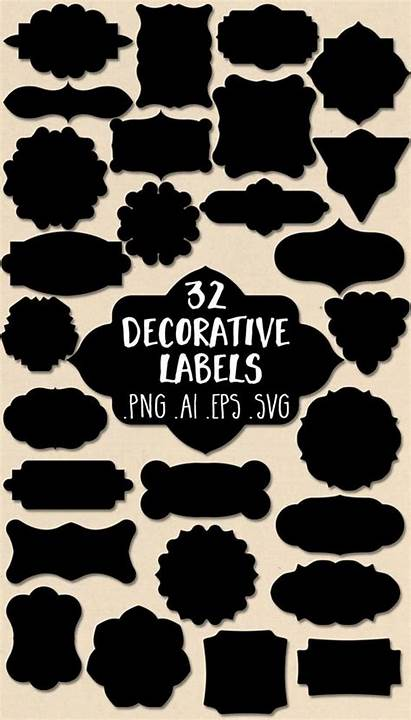 Label Decorative Labels Clipart Clip Vector