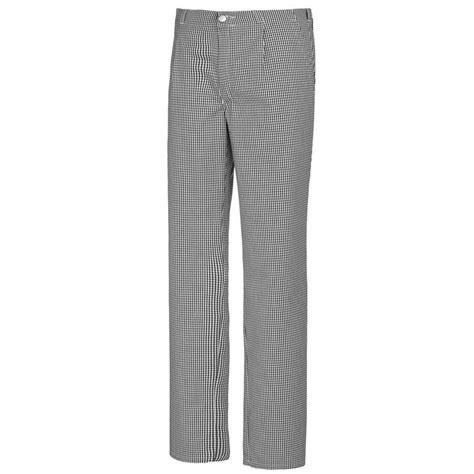 pantalon de cuisine noir pantalon cuisine pied de poule noir blanc elastiqué dans