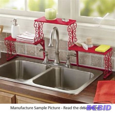 Red Over The Sink Shelf by Tall Faucet Scroll Sink Shelf Delicious Red Win It
