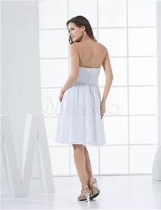 robe de ceremonie bustier en chiffon blanc avec ceinture With robe de cocktail combiné avec capteur activité