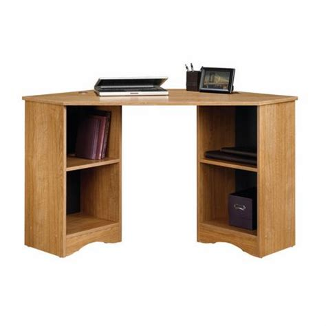 sauder corner desk highland oak finish 413074 walmart