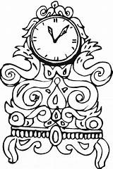Clock Coloring Pages Cuckoo Printable Designs Clocks Analog Getcolorings Detailed Bulkcolor sketch template