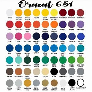Htv Color Chart Oracal 651 All Colors Bundle Pack