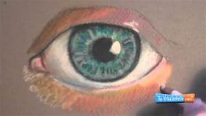 how to draw with pastel pencils eye demonstration
