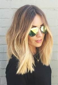 Balayage Cheveux Frisés : coupe de cheveux femme mi long balayage ~ Farleysfitness.com Idées de Décoration