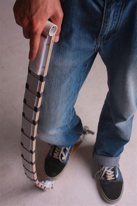 adam toroks collapsible belt scooter   wearable mode
