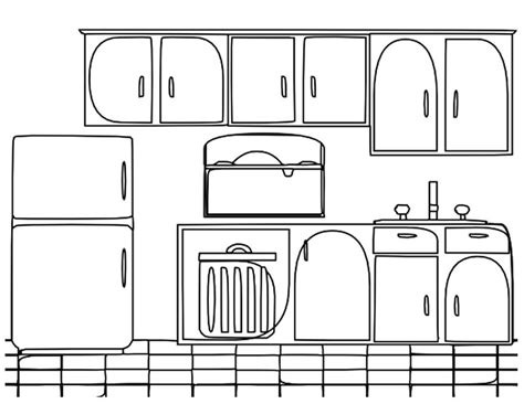 coloriage cuisine armoire coloring pages