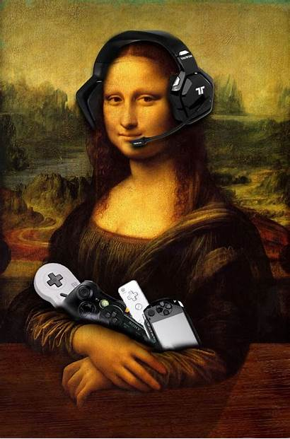 Mona Lisa Parody Famous Artwork Graphic Meaning