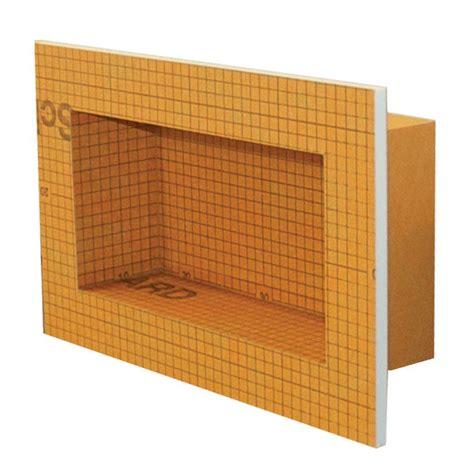 schlüter kerdi board schluter kerdi board sn 12 in x 6 in shower niche kb12sn305152a the home depot