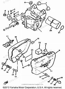 Yamaha Motorcycle 1979 Oem Parts Diagram For Side Cover