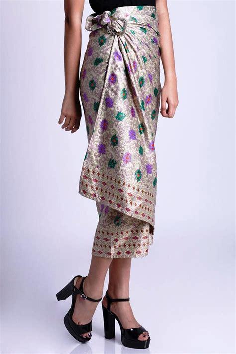 model rok batik panjang pendek modern  pesta