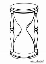 Hourglass Coloring Pages Outline Vector Sand Clipart Clip Animated Designs Printcolorfun Any sketch template