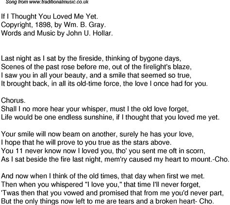I Thought I Loved You Quotes