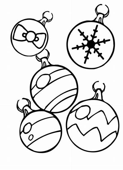 Coloring Christmas Ornaments Pages Decorations Ornament Children
