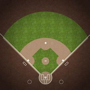 Baseball Field Stock Illustration  Illustration Of Dirt