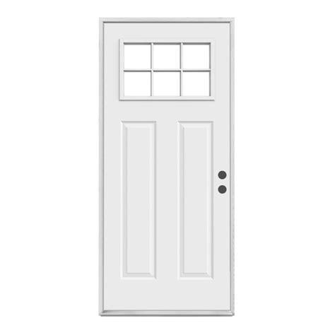 Prehung Interior Doors Home Depot - reliabilt craftsman 6 lite inswing steel entry door lowe 39 s canada