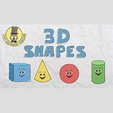 3d Shapes Song  Shapes For Kids  The Singing Walrus Youtube