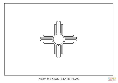 Flag Of New Mexico Coloring Page Free Printable Coloring