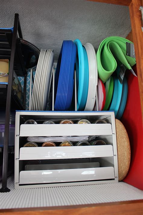 samantha walkers imaginary world motorhome kitchen organization   top  rv kitchen