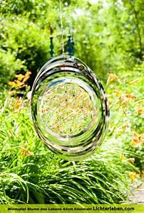 Blume Des Lebens Fensterbild : windspiel blume des lebens edelstahl ~ Markanthonyermac.com Haus und Dekorationen