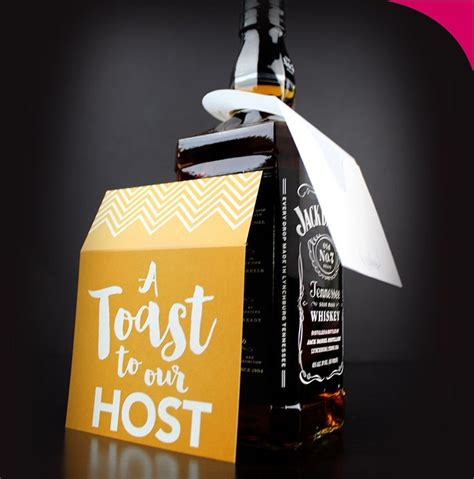 a toast to our host gift tag bottle pouch bottle gifts and the o jays