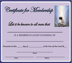 membership certificate template 15 free sample example With new member certificate template