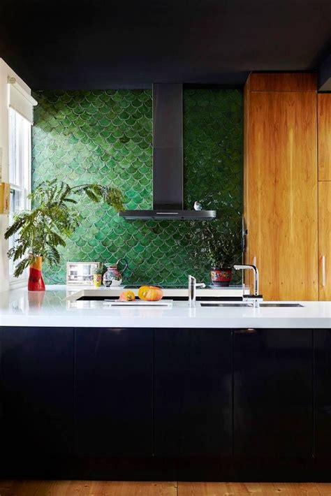 fish scale tiles    subway tile kitchens fish