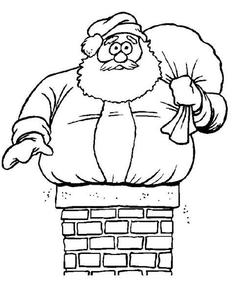 Kleurplaat Piet In Schoorsteen by Kleuren Nu Kerstman Vast In De Schoorsteen Kleurplaten