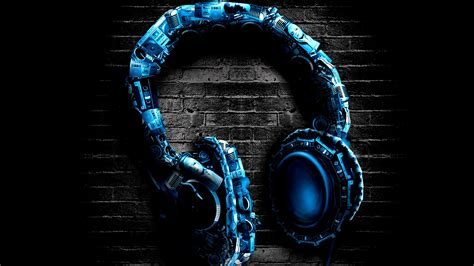 Headphones Stereo Blue Wallpaper  3840x2160 53053