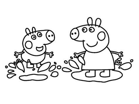 Kleurplaat Penelope by Image Result For Peppa Pig Jumping In Muddy Puddles