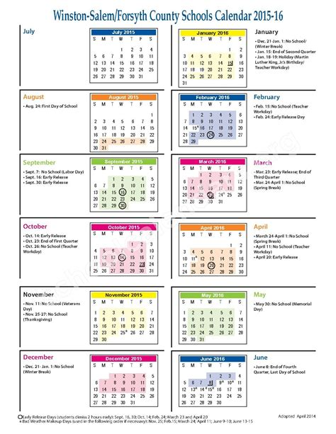 east forsyth high school calendars kernersville nc