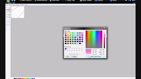 can i match or blend a color in windows paint the expert